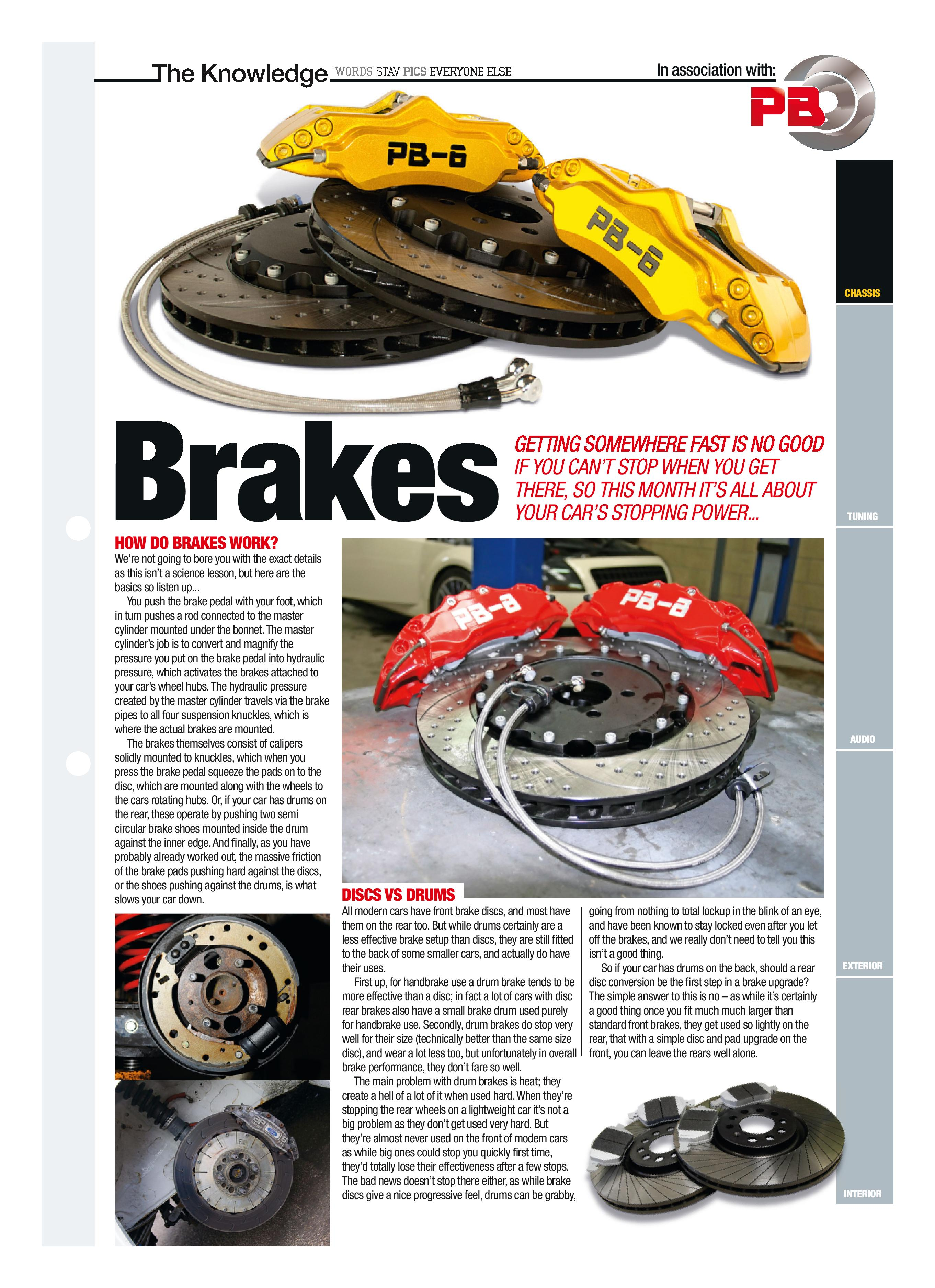 Fast Car Magazine brake feature sponsored by PB