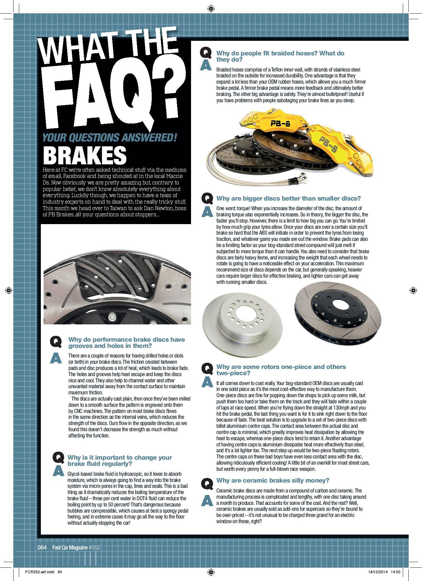 WTFAQ Article by PB Brakes